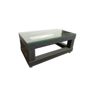 TABLE BASSE INDUSTRIELLE METAL ET VERRE TB-100